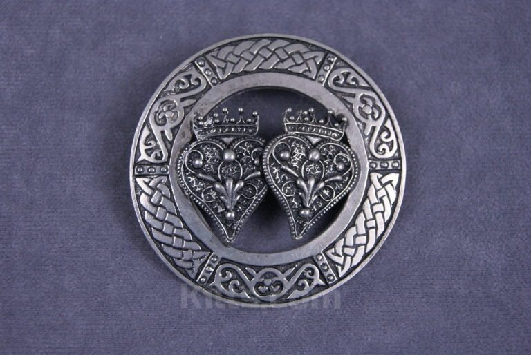 View our Lady's Double Luckenbooth Brooch for sale for shawls & sashs.