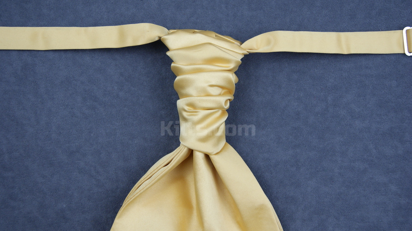 Here is our Gold Ruche Tie for sale.