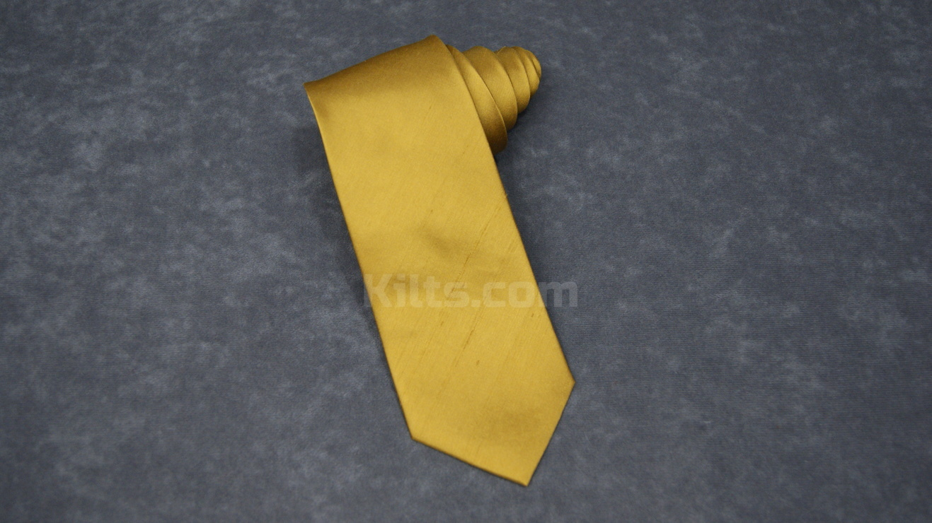 Have a look at our Gold Silk Kilt Tie for sale.
