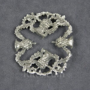 View our Hidden Cross Thistle Brooch for sashs and shawls for sale.
