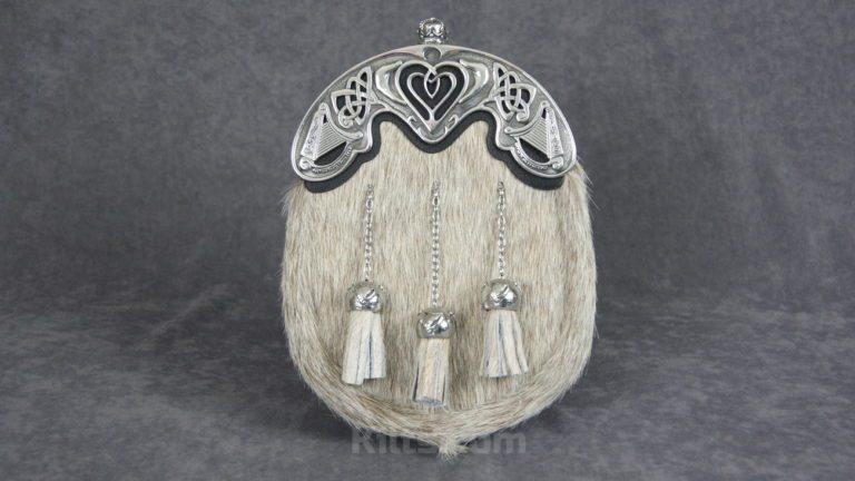 View our Irish Bovine Dress Sporran for sale.