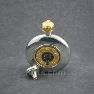 View our Irish Clan Crest Flask for sale. The best Irish whiskey hip flask for sale