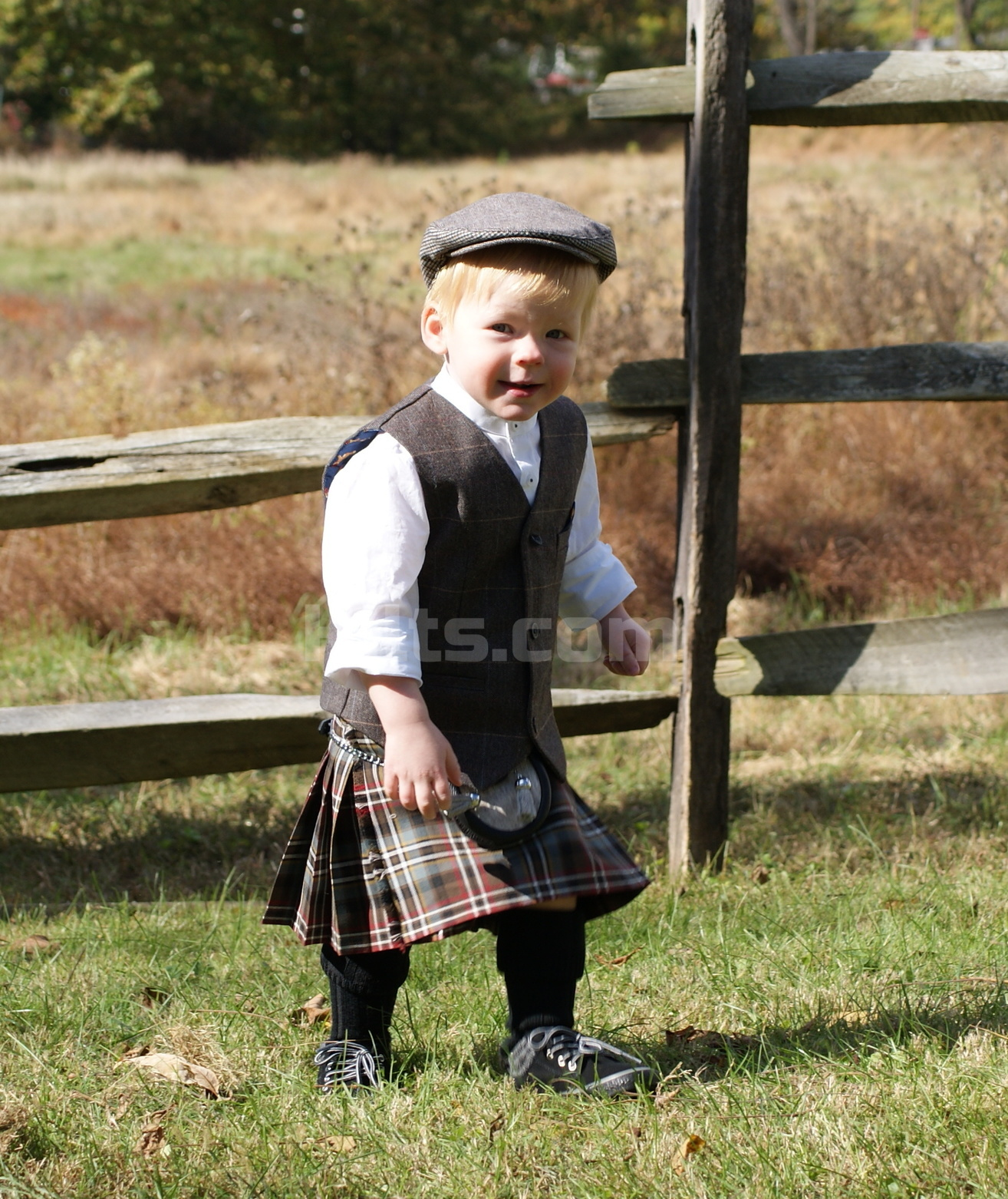 Have a look at our Kids Kilt. Our Children's Kilt is perfect for the wee Highlander!