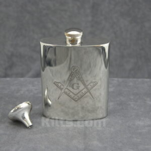 View our Masonic Flask. This is the best Masonic whiskey hip flask for sale.
