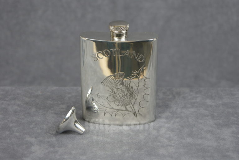View our Thistle Flask. This is the best whisky thistle hip flask for sale.
