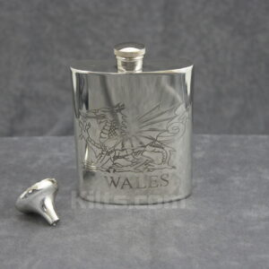 View our Welsh Flask. This is the best Welsh whisky hip flask for sale.
