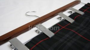 Central to kilt care is using a kilt hanger.