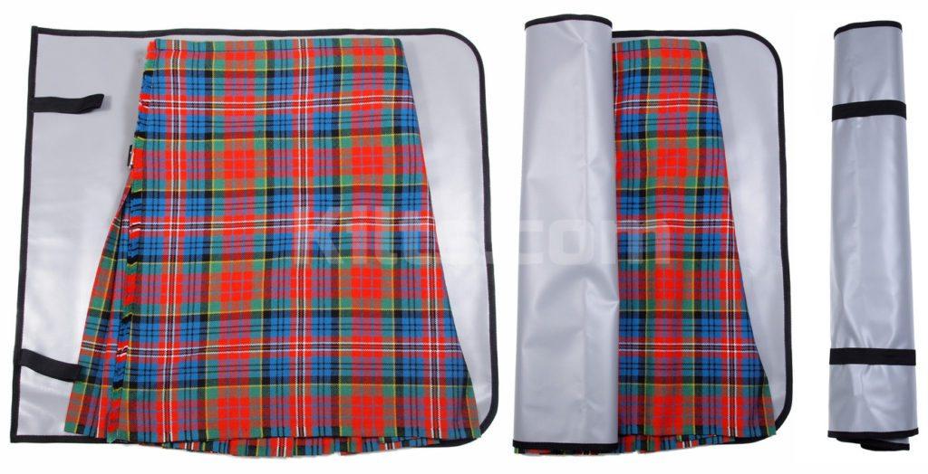 Use a Kilt Roll to protect your kilt.