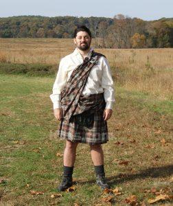 La gran falda o pollera escocesa
