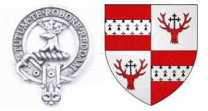 Crawford Clan badge and tartan